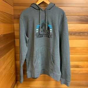 Marmot Slate Gray Heather Hoodie Sweatshirt